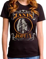Goodie Two Sleeves Black Janis Joplin Live Tee - Women