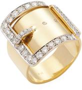 Janis Savitt Women's 18K Yellow Gold & 1.06 Total Ct. Diamond Buckle Ring