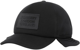 Burberry Logo Applique Reconstructed Baseball Cap