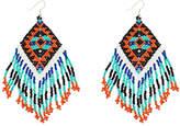 Pannee Jewelry PANNEE JEWELRY Women's Earrings Blue/Turquoise/Black/Orange - Blue & Teal Beaded Drop Earrings