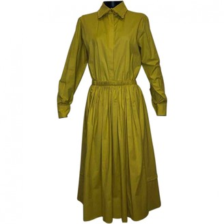 Rochas Yellow Cotton Dress for Women