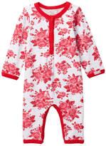 Coccoli Rose Print Bodysuit (Baby Girls)