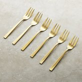 Crate & Barrel Gala Appetizer Forks, Set of 6