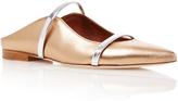 Malone Souliers Maureen Metallic Leather Flats