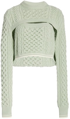 Rosie Assoulin Thousand In One Ways Sweater Mint
