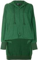 Y-3 high low zipped hoodie