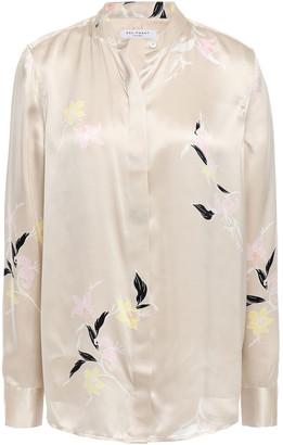 Equipment Cherine Floral-print Silk-satin Shirt
