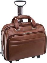 McKlein McKleinUSA Midway 15.6 Leather Fly-Through Checkpoint-Friendly Detachable Wheeled Laptop Briefcase