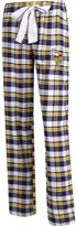 Unbranded Women's Concepts Sport Purple/Gold Minnesota Vikings Plus Size Piedmont Flannel Sleep Pants
