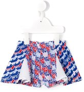 Kenzo printed pleated shorts