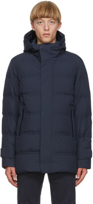 Herno Navy Down Seamong Hooded Parka