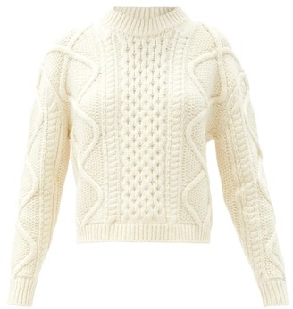 Officine Generale Alizee Cable-knit Sweater - Cream