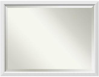 "Amanti Art Bathroom Mirror, Fits Standard 36-48"" Cabinet, Blanco White, 44""x34"""