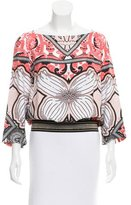 Class Roberto Cavalli Long Sleeve Printed Top w/ Tags