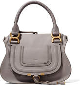 Chloé Marcie Small Textured-leather Tote - Light gray