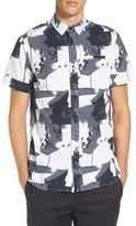 Tavik 'Porter' Print Poplin Short Sleeve Woven Shirt