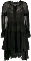 Ermanno Scervino layered scalloped lace silk dress