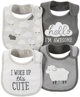 Carter's Baby Lamb & Striped 4-pk. Bibs