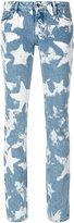 Givenchy bleached star skinny jeans - women - Cotton/Polyester - 36