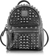 MCM Black X-Mini Stark Pearl Studs Backpack