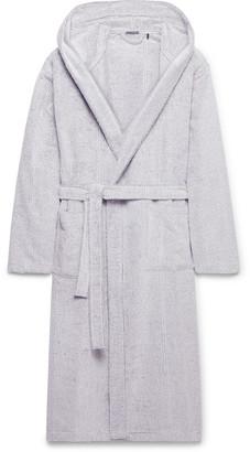 Schiesser Striped Cotton-Terry Hooded Robe - Men - Gray