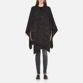 MICHAEL Michael Kors Women's Twill Blanket Poncho Grey