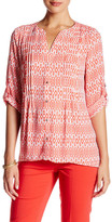 Chaus Abstract Jewel Pintuck Blouse