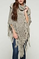 Love Stitch Fringe Poncho