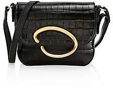 Oscar de la Renta Women's Oath Croc-Embossed Leather Crossbody Bag
