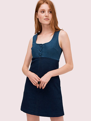 Kate Spade Denim Pinafore Dress