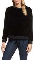 Kenneth Cole New York Women's Zipper Velvet Sweatshirt