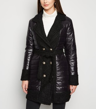 New Look Urban Bliss Teddy Trim Puffer Jacket