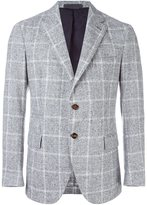Eleventy window pane plaid blazer
