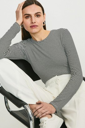 Karen Millen Stripe Ribbed Jersey Body