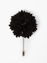 Lanvin Black Carnation Brooch