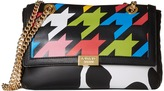 Moschino Cow and Pied De Poule Print Shoulder Bag