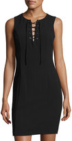 1 STATE 1.STATE Sleeveless Lace-Front Sheath Dress, Rich Black