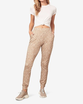 Express Bb Dakota Animal Print Jogger Pant