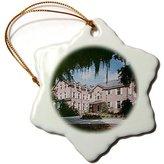 3dRose LLC Sandy Mertens South Carolina - Modern Georgetown Plantation (Textured) - Ornaments - (orn_61724_1)