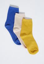 Missguided Three Pack Basic Socks Multi Mix