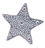 """Mia Hair Stickers-""""Clip-Less"""" Small Hair Ornaments That Stick To The Hair With Grippit Material-Silver Star -Measures 1.5"""" (1 piece per package)"""