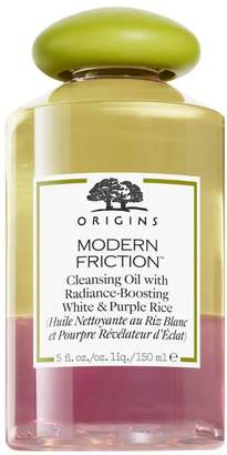 Origins Modern Friction Cleansing Oil with Radiance-Boosting White and Purple Rice