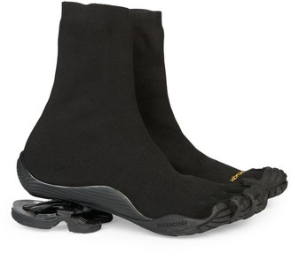 Balenciaga Vibram x High-Top Toe Sneakers