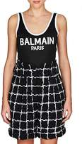 Balmain Women's Logo Compact-Knit Bodysuit