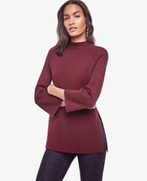 Ann Taylor Mock Neck Tunic Sweater