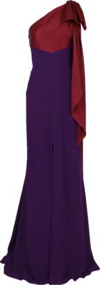 Alexander McQueen One Shoulder Bow Detail Gown