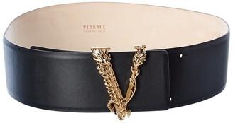 Versace Virtus Waist Leather Belt