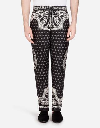 Dolce & Gabbana Pyjama Bottoms In Bandana Print
