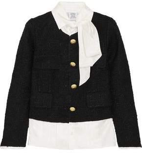 Vetements Layered Satin-jacquard And Metallic Boucle-tweed Jacket