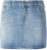 Givenchy star print denim mini skirt - women - Cotton/Polyester/Spandex/Elastane - 38